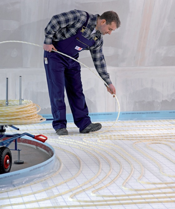 Uponor Klettsystem (Foto: Uponor)